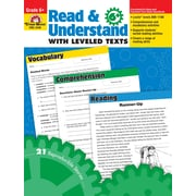 Evan-Moor Educational Publishers Read and Understand with Leveled Texts for Grade 6 (3446)