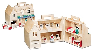 Melissa & Doug Fold & Go Large Dollhouse, 16 x 10.7 x 9.7, (786)