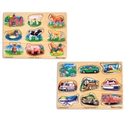 "Melissa & Doug Sound Puzzle Bundle (#267 & #268), 11.8"" x 8.5"" x 2.6"", (2008)"