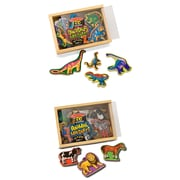 "Melissa & Doug Magnetic Animals & Dinosaurs Bundle, 11.5"" x 7.7"" x 2.2"", (2072)"
