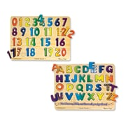 "Melissa & Doug Numbers & Alphabet Sound Puzzle Bundle, 13.5"" x 10"" x 2.2"", (2348)"