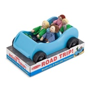 "Melissa & Doug Road Trip! Wooden Car and Poseable Passengers 9.5"" x 5.5"" x 5.5"" (2463)"
