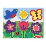 """Melissa & Doug Chunky Scene - Flower Garden, 12"""" x 10.8"""" x 0.8"""", (3753)"""