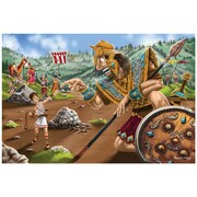 "Melissa & Doug David & Goliath Floor Puzzle, 12"" x 9.5"" x 3"", (4494)"
