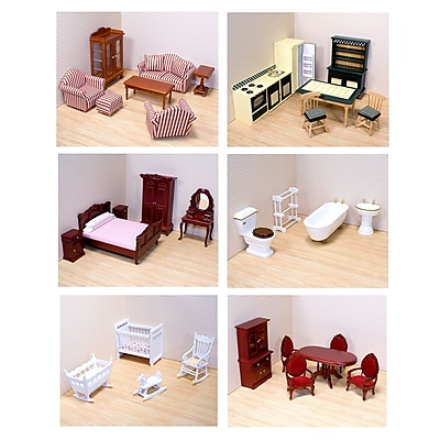 Melissa & Doug Victorian Dollhouse Furniture Bundle, 23 x 13.5 x 9.5, (4690)