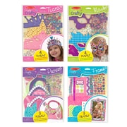 "Melissa & Doug Simply Crafty Bundle - Tiaras, Masks, Purses and Petals, 11.45"" x 8.2"" x 1"", (8127)"