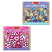 "Melissa & Doug M&D Flowers & Hearts Small Bead Set Bundle, 6"" x 5"" x 1.8"", (8255)"