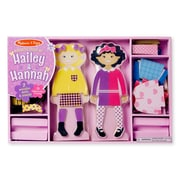 "Melissa & Doug Hailey & Hannah Magnetic Dress-Up Dolls, 14.5"" x 9.5"" x 1.25"", (8799)"