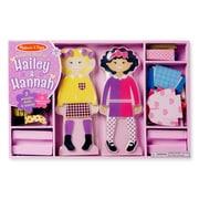 "Melissa & Doug Hailey & Hannah Magnetic Dress-Up Dolls, 14.5"" x 9.5"" x 1.25"", (8799)"