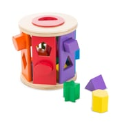 "Melissa & Doug Match & Roll Shape Sorter, 5.85"" x 5.85"" x 5.85"", (9041)"