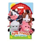 "Melissa & Doug Farm Friends Hand Puppets, 14.25"" x 9.5"" x 1.75"", (9080)"