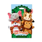 Melissa & Doug Zoo Friends Hand Puppets, 14.25 x 9.5 x 1.75 (9081)