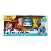 Melissa & Doug Pop Blocs Vehicles, 15.2 x 7 x 4.2 (9197)