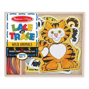 "Melissa & Doug Lace & Trace - Wild Animals, 8.2"" x 6.7"" x 1.4"", (9276)"