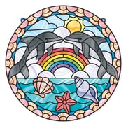 "Melissa & Doug Stained Glass - Dolphins, 16"" x 12.9"" x 0.7"", (9291)"