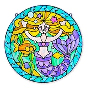 """Stained Glass - Mermaid, 16""""x12.9""""x0.7"""",(9292)"""