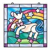 """Melissa & Doug Stained Glass - Unicorn, 10.75"""" x 8.1"""" x 0.7"""", (9299)"""