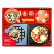 "Melissa & Doug Wooden Press & Serve Waffle Set, 13"" x 10.45"" x 3"", (9346)"