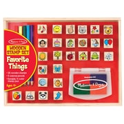 "Melissa & Doug Wooden Favorite Things Stamp Set, 10.45"" x 8.25"" x 1.6"", (9362)"