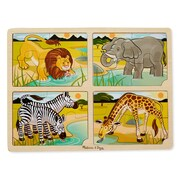 "Melissa & Doug 4-in-1 Safari Jigsaw Puzzle, 15.7"" x 11.7"" x 0.45"", (9366)"