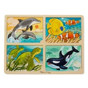 "Melissa & Doug 4-in-1 Sea Life Jigsaw Puzzle, 15.7"" x 11.7"" x 0.45"", (9367)"