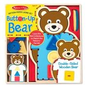 "Melissa & Doug Button-Up Bear Pattern Match Lacing Set, 9"" x 9"" x 1.2"", (9492)"