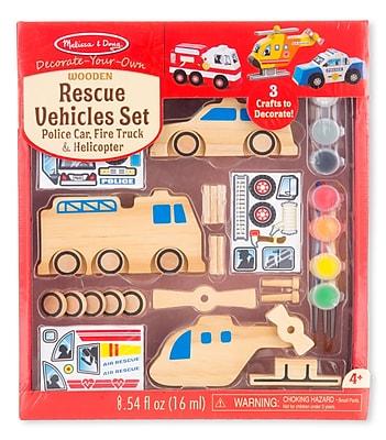 """""Melissa & Doug Rescue Vehicles Set, 10"""""""" x 7.8"""""""" x 2.9"""""""", (9528)"""""" 1904192"