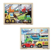 Melissa & Doug 12-Piece Jigsaw Bundle, Vehicles & Construction,12 x 8.9 x 0.8,(9831)