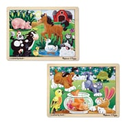 "Melissa & Doug 12pc Jigsaw Bundle - Farm & Pets, 12"" x 8.9"" x 0.8"", (9832)"