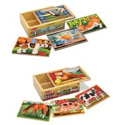 "Melissa & Doug Pets & Farm Box Puzzle Bundle, 8"" x 6"" x 5"", (9839)"