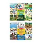"Melissa & Doug Reusable Sticker Bundle - Vehicle / Habitat, Removable Scenes, 14"" x 11"" x .025"", 300 + Stickers, 2 Books (9922)"