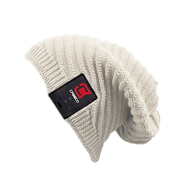 Caseco Blu-Toque, Bluetooth Slouch Hat, White