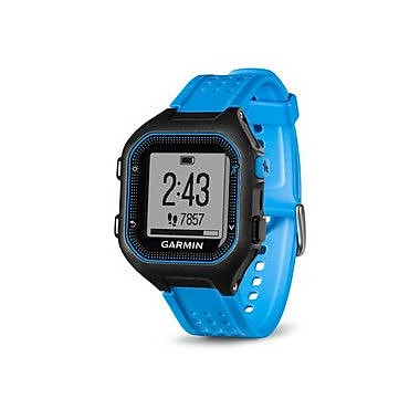 Garmin Forerunner® 25 GPS Running Watch with Heart Rate Monitor, Large, Black/Blue