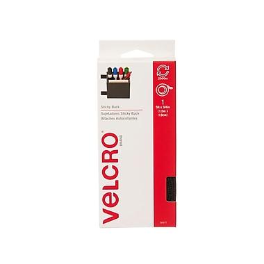 Velcro Sticky Back Fasteners Tape Dispenser, 5', Black