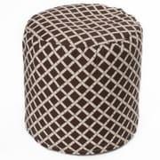 OC Fun Saks Bamboo Bean Bag Ottoman; Brown