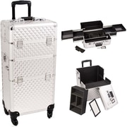 Sunrise Cases Trolley Makeup Case; Silver