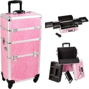 Sunrise Cases Trolley Makeup Case; Pink