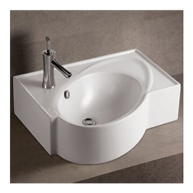 Whitehaus Collection Isabella Above Mount Bathroom Sink w/ Overflow and Rear Center Drain