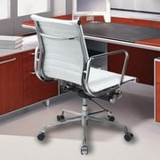 Manhattan Comfort Metro AL Mid-Back Conference Chair with Arms; White