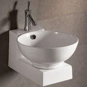 Whitehaus Collection Isabella Round Bathroom Sink w/ Overflow and Center Drain