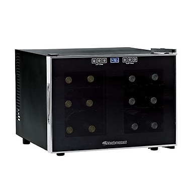 Wine Enthusiast Companies Silent 12 Bottle Dual Zone Wine Refrigerator