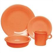 Fiesta 16 Piece Dinnerware Set; Tangerine