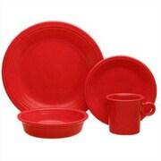 Fiesta 16 Piece Dinnerware Set; Scarlet