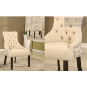 BestMasterFurniture Natural Fabric Arm Chair (Set of 2)