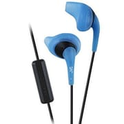 JVC HA-ENR15-A-K Gumy Sport Earbuds Headphones with Remote and Mic, Blue