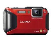Panasonic LUMIX DMC-TS6 16.1 MP Adventure Camera, 4.6x Optical Zoom, Red