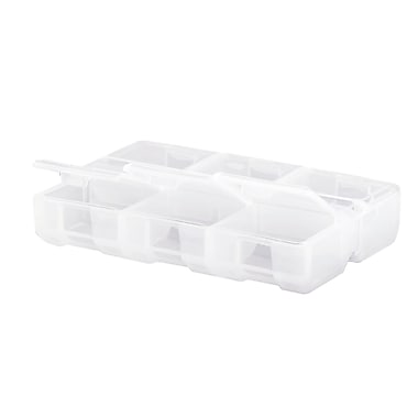 IRIS® Divided Storage Case, Clear, 60 Pack (215000)