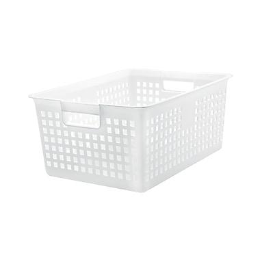 IRIS® Large Mesh Basket, White, 6 Pack (109201)