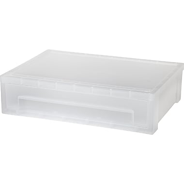 IRIS® Large Desktop Stacking Drawer, Clear (150074)