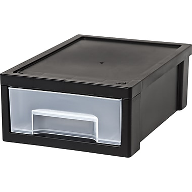 IRIS® Small Desktop Stacking Drawer, Black (150142)